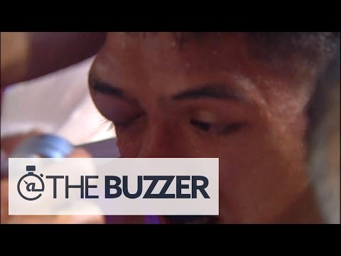 Huge lump on boxer's face stops fight